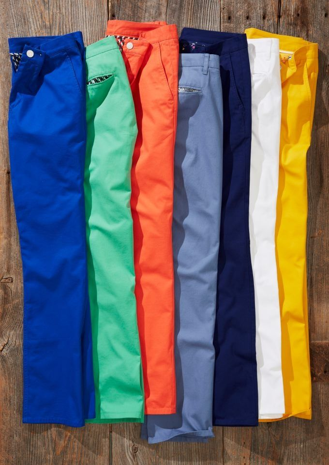Man in Pink   Bright Colorful Bonobos men's chinos for summer.  I invested in every color for each Ralph Lauren Polo and solid button up tops #Winning