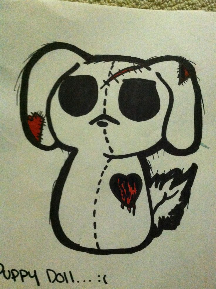 My emo drawing puppy!