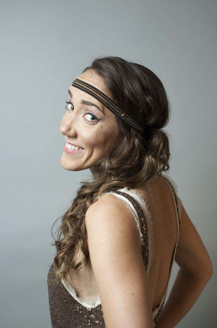 Alyssa, Prohibition Hippie styles.   #hippieUPdo #hippieHair #weddinghair #curls