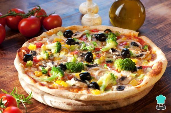 Receta de Pizza jardinera