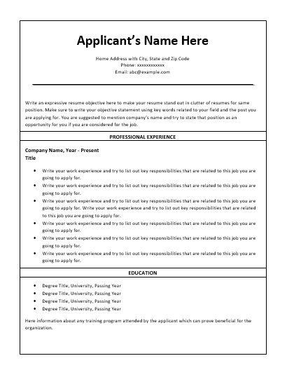 Nursing-Resume-Template