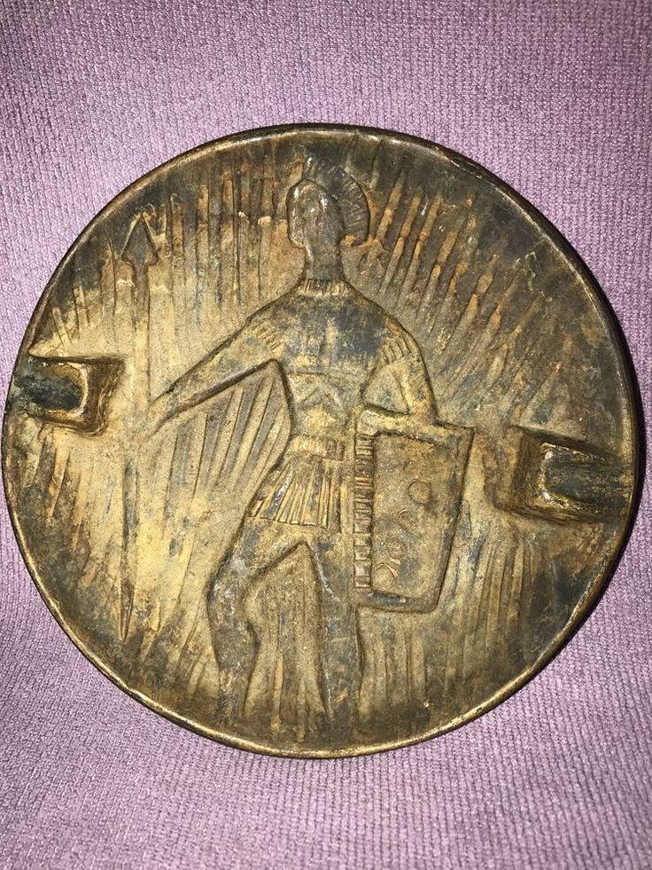 Roman Warrior Soldier Italy Ashtray Round  | eBay