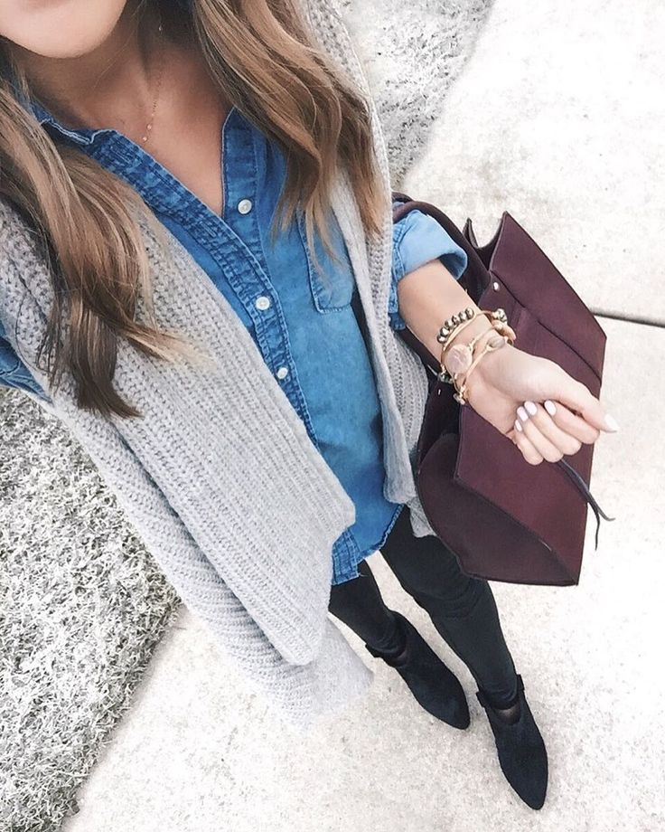 Wrapped up in this sweater vest for #decemberwearwhatwhere today  We shot this look for the blog and I forgot how sucky it is to take photos in the winter! Already in the 30's in Minnesota.     Shop everything here: http://liketk.it/2pMbo @liketoknow.it #liketkit