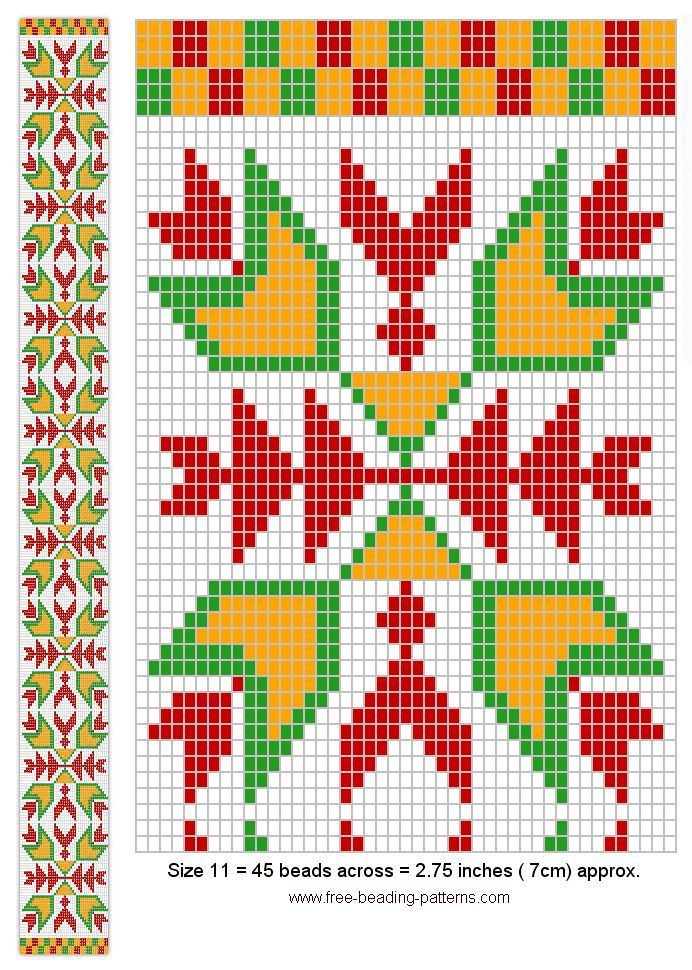 WOODLAND BEADWORK - Geometric Sash Design