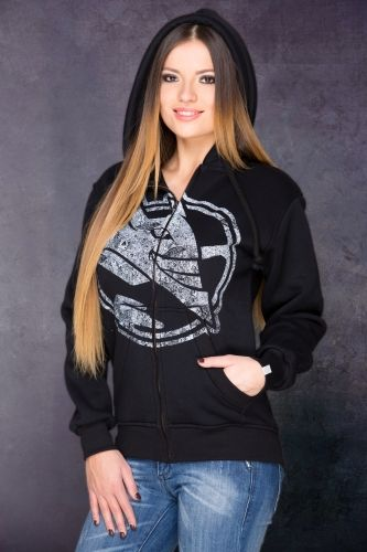 Devil ZIP Hoodie in Black