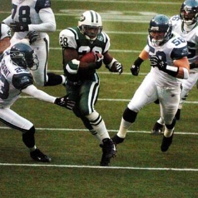 Curtis Martin scores against Seahawks  New York Jets Curtis Martin scores against the Seattle Seahawks