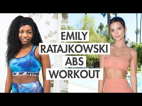 Emily Ratajkowski Inspired Belly Fat Burning + Flat Stomach Workout | Sc...
