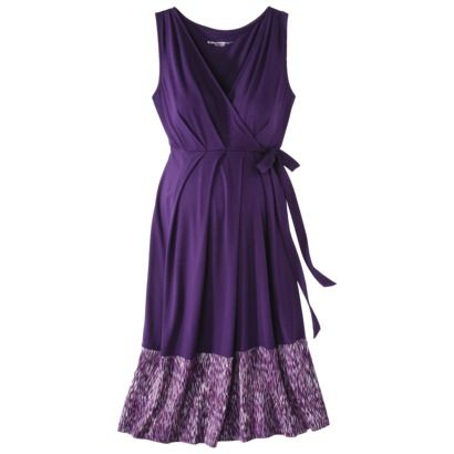 Liz Lange® for Target® Maternity Sleeveless Side-Tie Dress - Purple  Cute with a chocolate brown cardigan and shoe