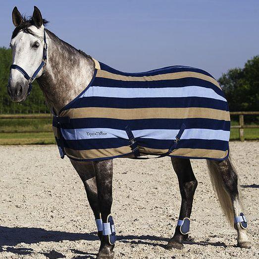 Equi-Theme Stripe Polar Fleece Rug: £29.99