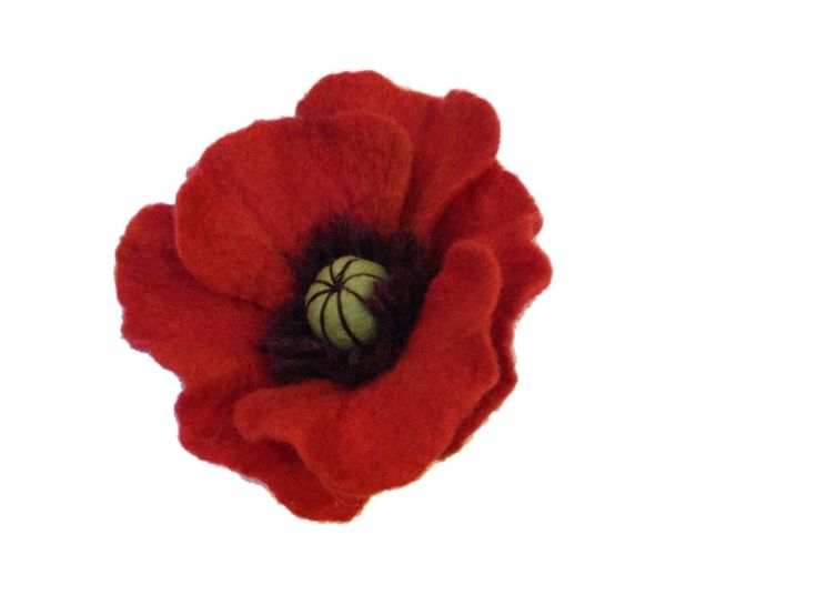 How to Make a Felted Poppy #felting #poppy #Remembrance day
