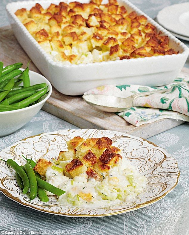 Mary Berry's Absolute Favourites: Fish pie with soufflé crouton topping | Daily Mail Online
