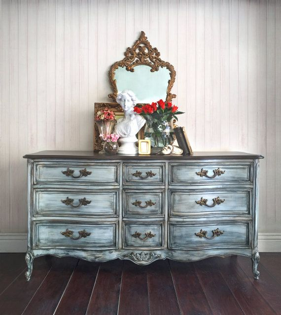 SOLD - French Provincial Dresser, Vintage Dresser, Credenza, Console, Buffet, TV Console, Shabby Chic Dresser