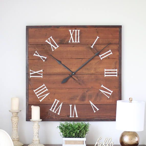 36 clock square clock large wall clock oversized wall