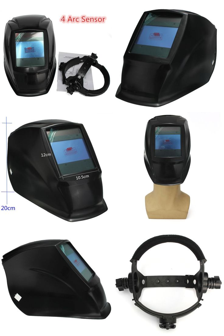 [Visit to Buy] Newest 4 Arc sensor big sreen Solar LI battery auto darkening TIG MIG MMA MAG electric welding mask/helmets/welder cap #Advertisement