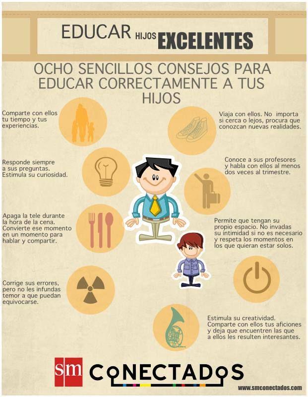 8 Consejos para Educar mejor a los Hijos | #Infografía