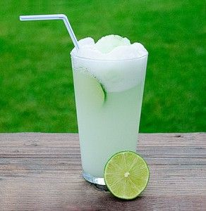 Fresh Lime Sherbet Float    fresh limes    lime sherbet    chilled Sprite (or other lemon-lime soda, you can even save on calories and use diet of Sprite Zero)