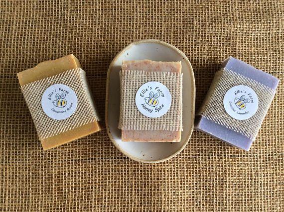 Soap Gift Set Soap Dish & 3 Soaps Soap and Soap Dish Set #soapset #naturalsoap #artisansoap #soapgiftset #ceramicgiftset #handmadesoap