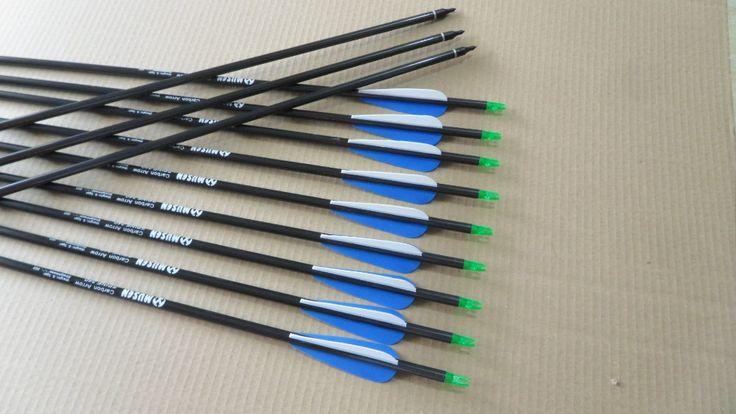 "24pcs High Quality Carbonfiber Arrows 31"" spine 340  target arrows for sale"