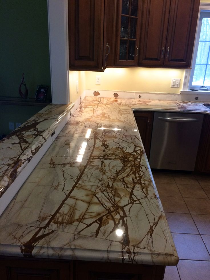 Roma Imperiale Quartzite Countertop Just Installed