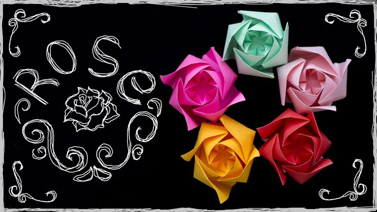 Origami Rose easy. How to make paper Rose. Origami flower simple