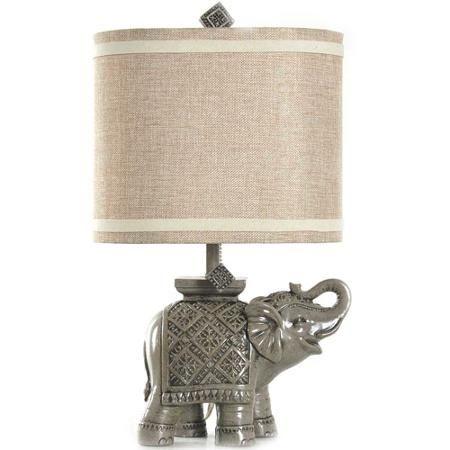Better Homes and Gardens Elephant Table Lamp, Gray - Walmart.com