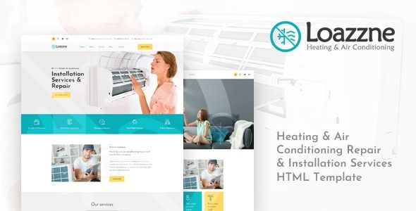 Loazzne Heating Air Conditioning Services Html Template Loazzne Is A Modern Amp Pr Air Conditioning Services Air Heating Air Conditioning Installation