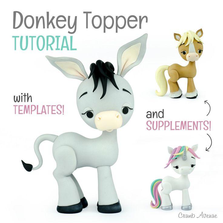 Crumb Avenue Tutorials Donkey Tutorial (Suplements: Horse & Unicorn)