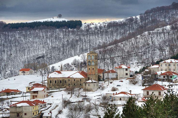 Kleisoura Kastoria Macedonia- Greece In winter
