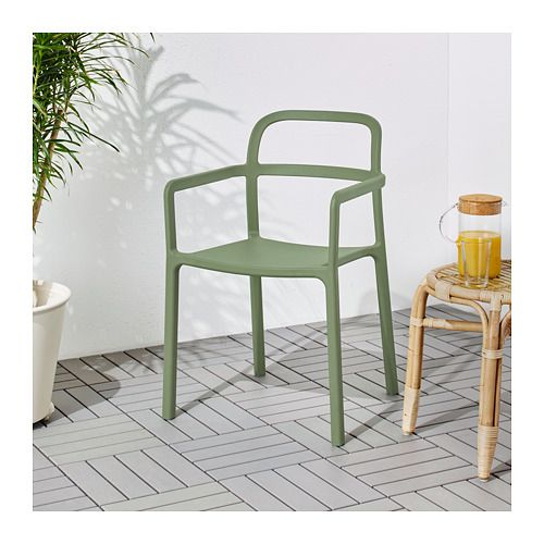 YPPERLIG Armchair, in/outdoor IKEA No assembly or screws to re-tighten, since the chair is molded in one piece. Lightweight, easy to lift and move.