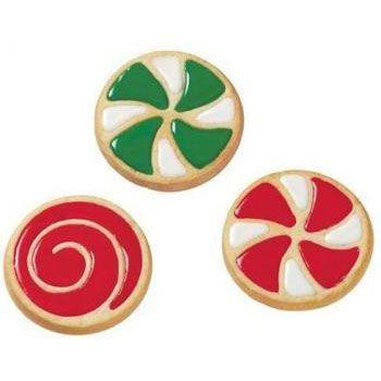 Biscotti decorati girandola e spirale