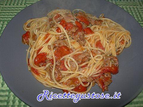 Spaghetti con straccetti di manzo