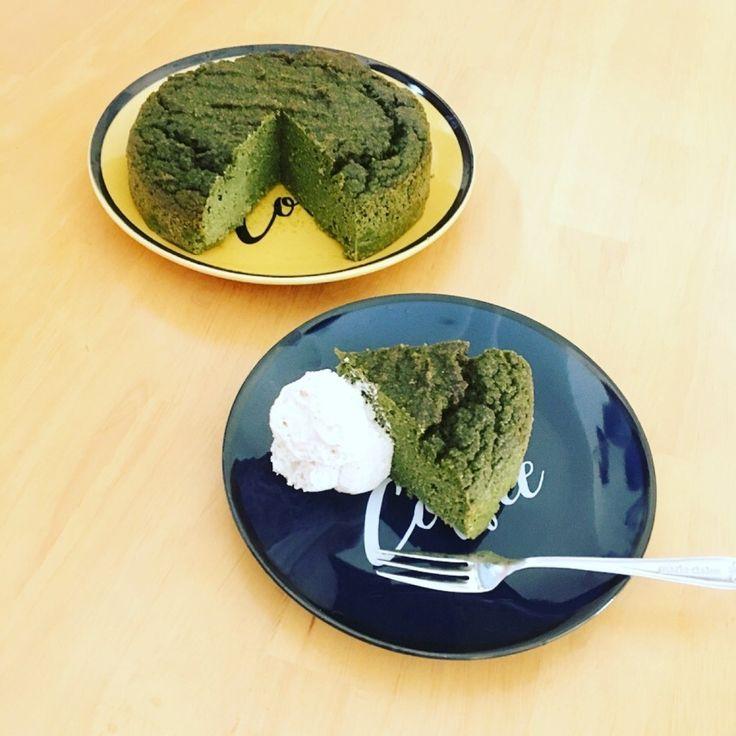 キヌアのガトーモリンガ モリンガが抹茶のような風味でしっとり濃厚ずっしり美味しいです♡ #キヌア #モリンガ #ケーキ