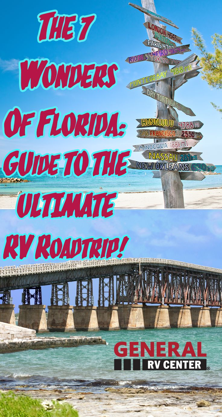 """The great state of Florida is home to beautiful beaches, landmarks and history.  General RV is making it's mark in the Florida territory first with it's Jacksonville location and next with General RV in Tampa, Florida which opened in October of 2014.  In honor of our new locations and our valued Florida RV customers we put together a list of some of our """"must see"""" spots to visit when RVing through Florida.  Check out General RV Florida's list of the 7 Wonders Of Florida and start your…"""