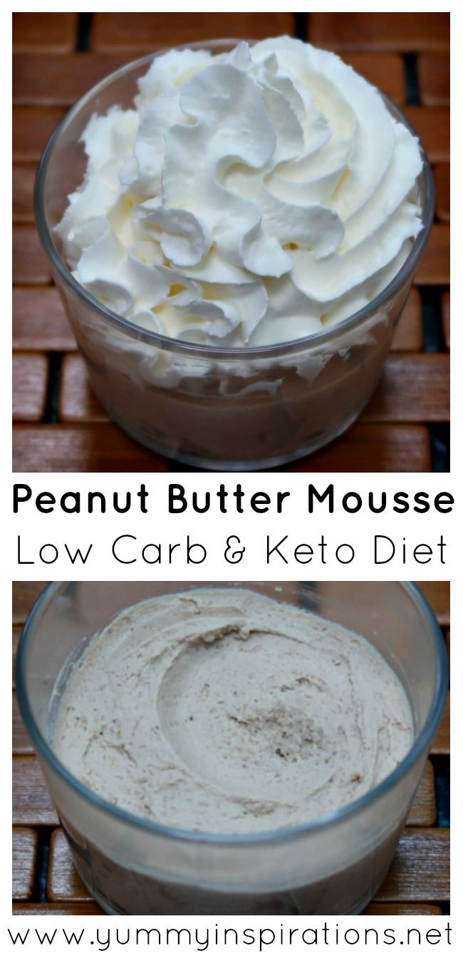Low Carb Peanut Butter Mousse Recipe - The Best Easy Keto Chocolate & Peanut Butter Mousse Recipe