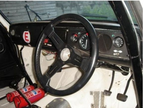 1968 Toyota Corona RT55 GT5 Coupe Vintage Race Car For Sale Interior