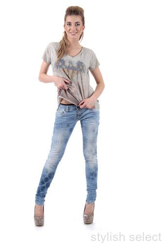 jeans Please biodrówki  niski stan