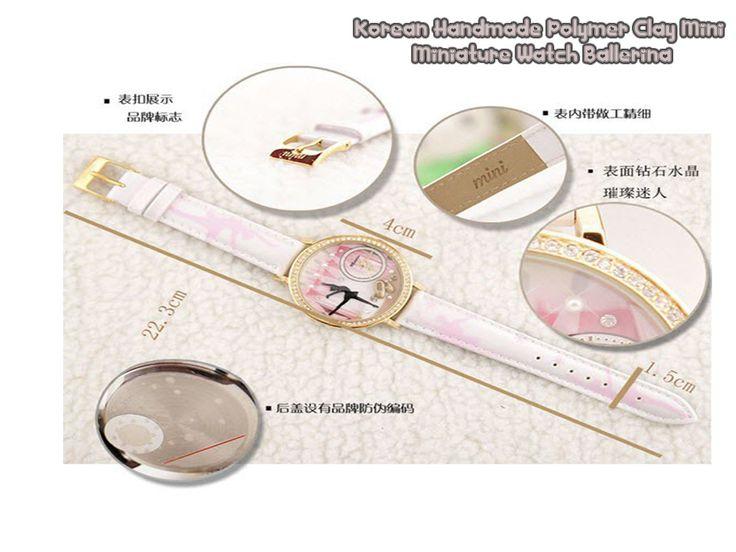 Hi Dealivians Ada Satu Penawaran Kembali dari Kami. Korean Handmade Polymer Clay Mini Miniature Watch Ballerina Melengkapi Koleksi Jam Tangan Cantik berdesain Menarik dan Unik menciptakan keanggunan si pemilik nya. Dapatkan Segera Produk Jam tangan cantik ini hanya di http://goo.gl/2wiDcX