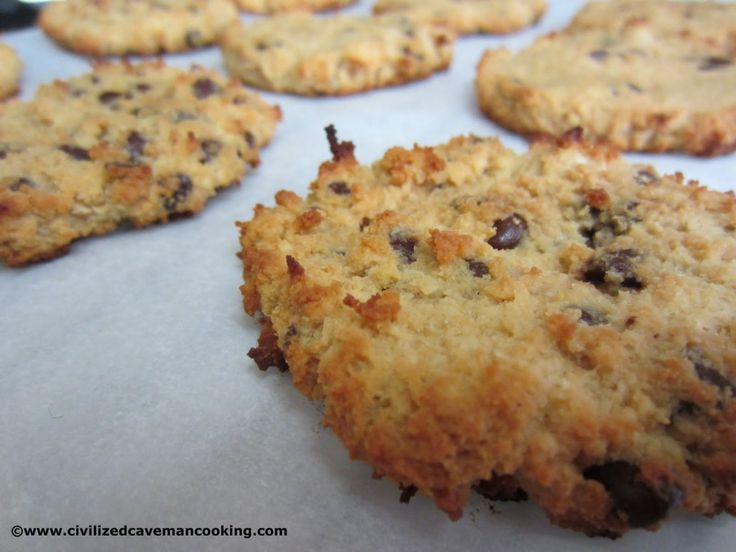 Coconut Chocolate Chip Cookies - calls for coconut flour, but maybe I could sub something else
