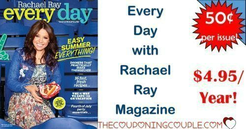 GREAT MAGAZINE DEAL! Every Day with Rachael Ray Magazine is only $4.95/Year! Grab it now while it is so cheap!  Click the link below to get all of the details ► http://www.thecouponingcouple.com/hot-deal-every-day-with-rachael-ray-magazine-only-4-99year/ #Coupons #Couponing #CouponCommunity  Visit us at http://www.thecouponingcouple.com for more great posts!