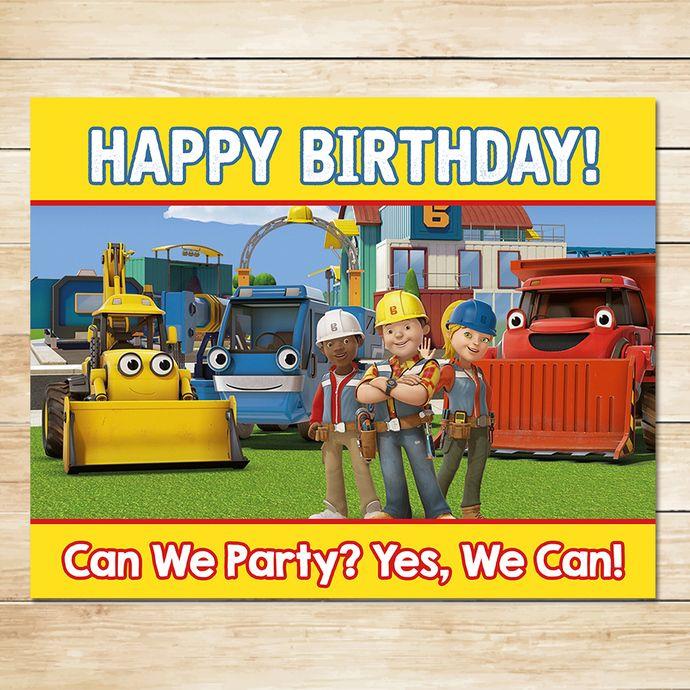 Bob The Builder Birthday Sign Chalkboard * Bob The Builder Birthday * Bob The Builder Sign * Bob The Builder Favors