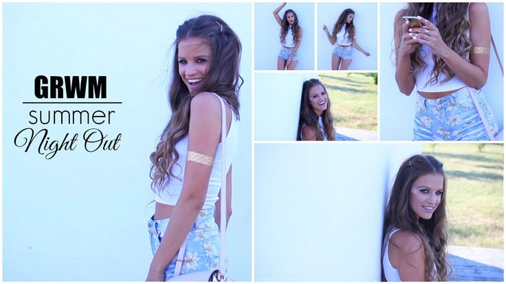 GRWM: Summer Night Out │ Makeup, Hair & Outfit...:)  #makeup #hair #style #fashion