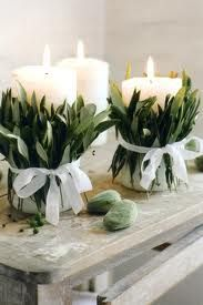 more olive leaf & candle ideas