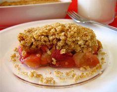 Croustade aux pommes et aux fraises