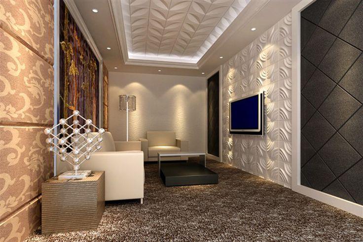 Umidade da fibra de planta - impermeabilize a placa decorativa da parede painéis/3D da parede 3D para o hotel ou o agregado familiar