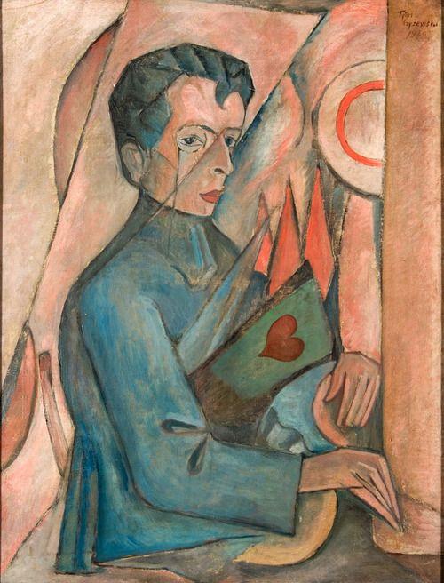 Tytus Czyżewski Portrait of Bruno Jasieński (born 17 July 1901; executed 17 September 1938)   in the collection of the Museum of Modern Art, Łodz.