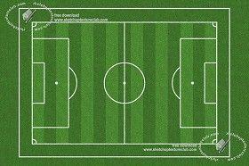 Textures Foot ball sports field texture 18717 | Textures - NATURE ELEMENTS - VEGETATION - Green grass | Sketchuptexture