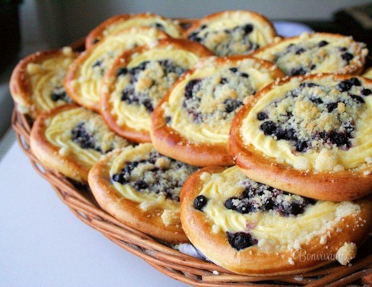 Čučoriedkové koláče s tvarohom