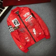 Cross-border exclusive for Japanese street fashion youth printing air force pilot jacket men's baseball uniform lovers jacket thin section
