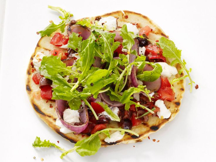 Pita Pizzas recipe from Food Network Kitchen via Food Network