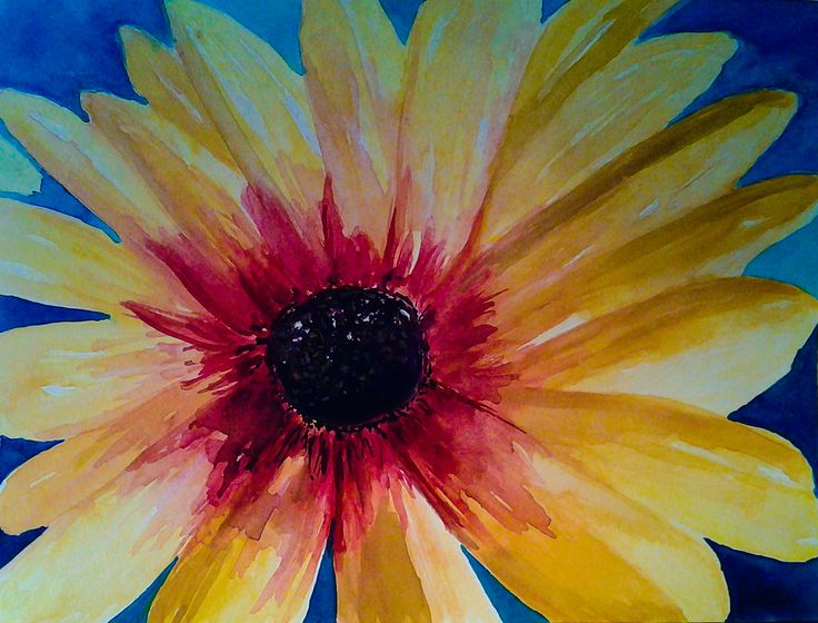 """""""Daisy Face""""  watercolor painting by Robin Booker"""